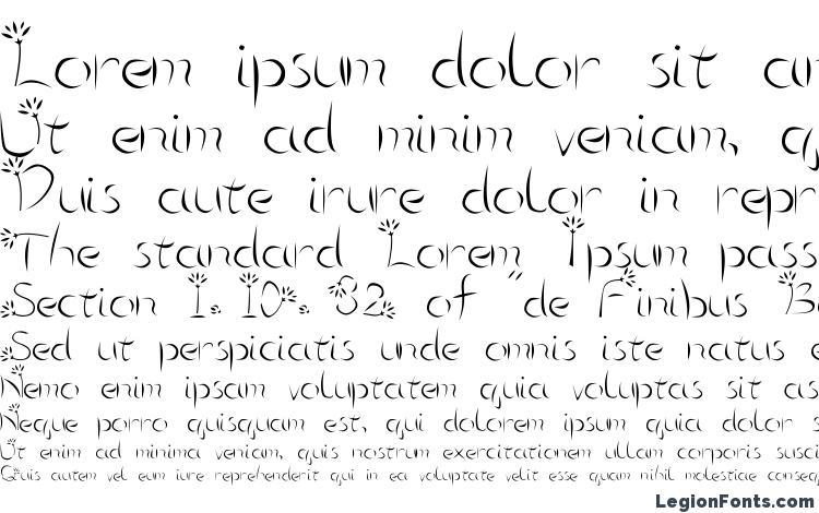 specimens Flower3 font, sample Flower3 font, an example of writing Flower3 font, review Flower3 font, preview Flower3 font, Flower3 font