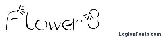 Шрифт Flower3