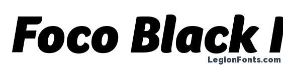 Foco Black Italic Font