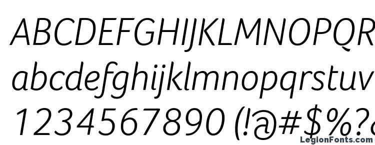 glyphs Foco Light Italic font, сharacters Foco Light Italic font, symbols Foco Light Italic font, character map Foco Light Italic font, preview Foco Light Italic font, abc Foco Light Italic font, Foco Light Italic font
