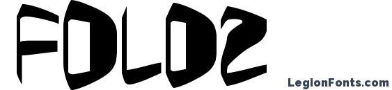 Шрифт Foldz