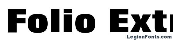 Folio Extra Bold BT Font