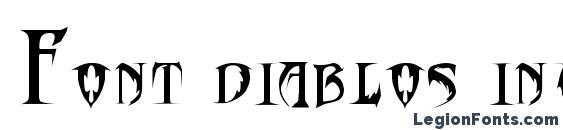 Шрифт Font diablos inc