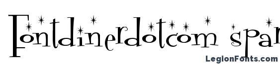 Шрифт Fontdinerdotcom sparkly