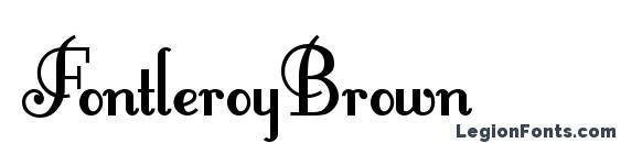 Шрифт FontleroyBrown