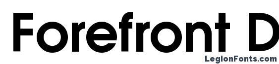 Forefront DemiSH Font