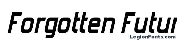 Forgotten Futurist Bold Italic Font