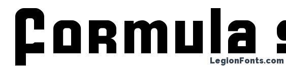 Шрифт Formula s