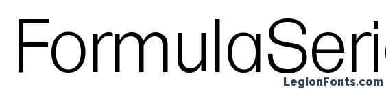 Шрифт FormulaSerial Light Regular