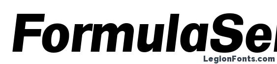 FormulaSerial Xbold Italic Font