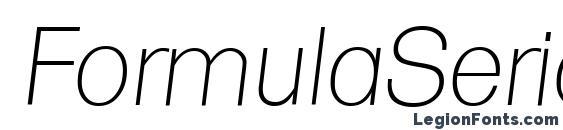 FormulaSerial Xlight Italic Font