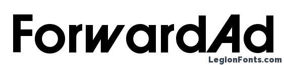 ForwardAd Bold Font