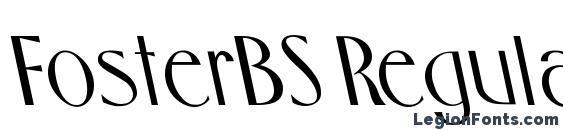 FosterBS Regular Font