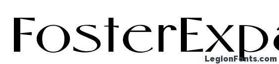 FosterExpanded Regular Font
