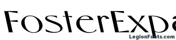 шрифт FosterExpandedBS Regular, бесплатный шрифт FosterExpandedBS Regular, предварительный просмотр шрифта FosterExpandedBS Regular