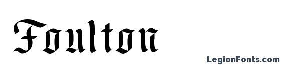 Foulton Font