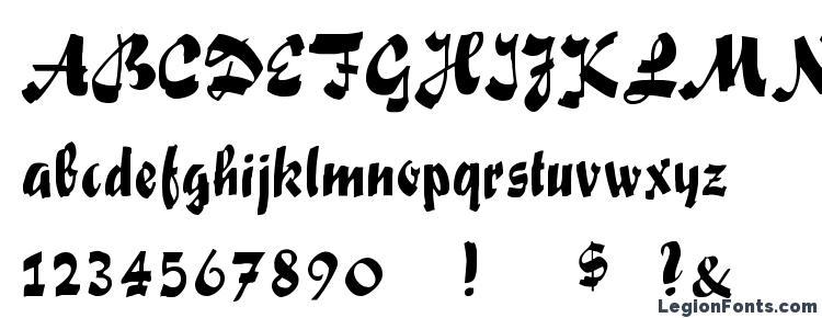 глифы шрифта Fox Script, символы шрифта Fox Script, символьная карта шрифта Fox Script, предварительный просмотр шрифта Fox Script, алфавит шрифта Fox Script, шрифт Fox Script