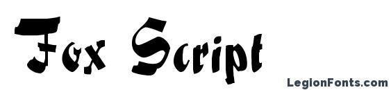 Шрифт Fox Script