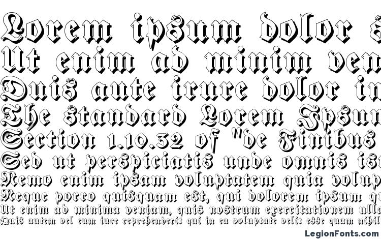 specimens Fraktur Shadowed font, sample Fraktur Shadowed font, an example of writing Fraktur Shadowed font, review Fraktur Shadowed font, preview Fraktur Shadowed font, Fraktur Shadowed font