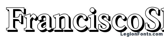 FranciscoShadow Medium Regular Font
