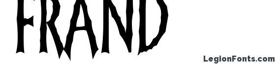 шрифт Frand, бесплатный шрифт Frand, предварительный просмотр шрифта Frand