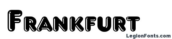 шрифт Frankfurt, бесплатный шрифт Frankfurt, предварительный просмотр шрифта Frankfurt