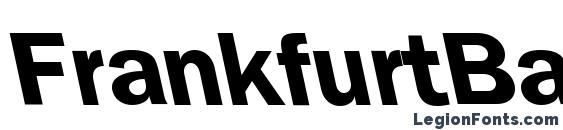 FrankfurtBackslant Bold Font