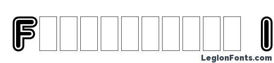 Frankfurter Inline Plain Font
