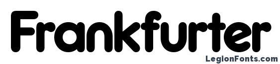 Шрифт Frankfurter Medium