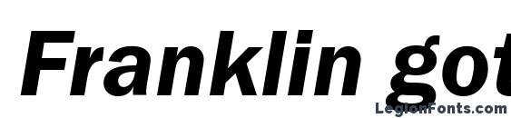 Шрифт Franklin gothic demi italic