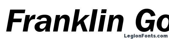 Franklin Gothic ITC Demi Italic BT Font
