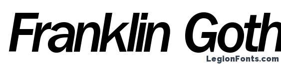 Шрифт Franklin Gothic MediumItalic