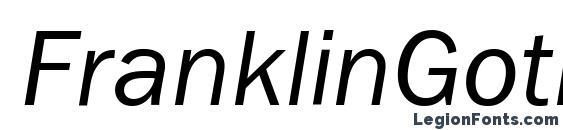 Шрифт FranklinGothBookCTT Italic