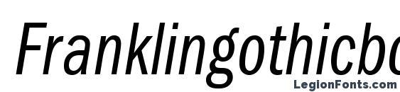 Шрифт Franklingothicbookcmpc italic