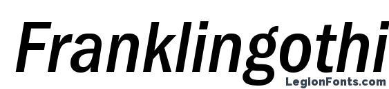 Franklingothicmedicondc italic Font, OTF Fonts
