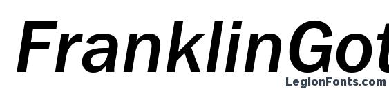 шрифт FranklinGothMediumBTT Italic, бесплатный шрифт FranklinGothMediumBTT Italic, предварительный просмотр шрифта FranklinGothMediumBTT Italic