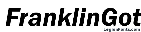 FranklinGotItcTEEDem Italic font, free FranklinGotItcTEEDem Italic font, preview FranklinGotItcTEEDem Italic font