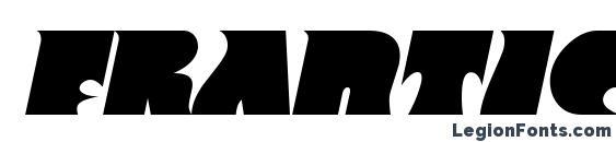 Frantic Italic Font