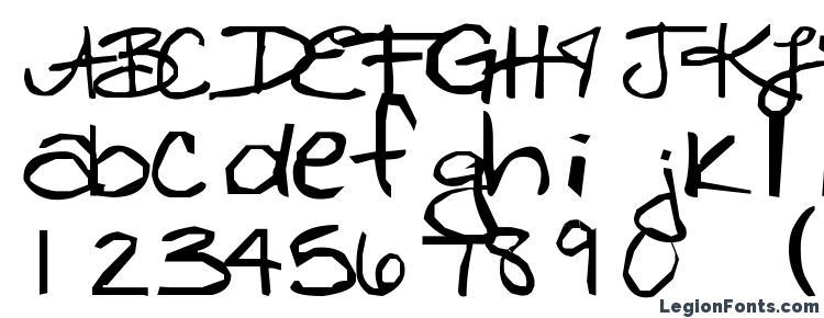 глифы шрифта Freckles, символы шрифта Freckles, символьная карта шрифта Freckles, предварительный просмотр шрифта Freckles, алфавит шрифта Freckles, шрифт Freckles