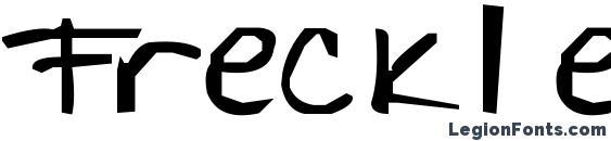 шрифт Freckles, бесплатный шрифт Freckles, предварительный просмотр шрифта Freckles