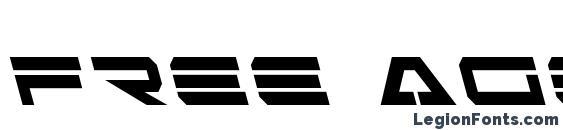 Free Agent Bold Leftalic Font