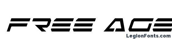 шрифт Free Agent Condensed Italic, бесплатный шрифт Free Agent Condensed Italic, предварительный просмотр шрифта Free Agent Condensed Italic