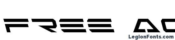 Free Agent Leftalic Font