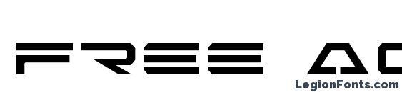 Шрифт Free Agent