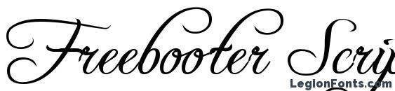 Freebooter Script Font, Calligraphy Fonts