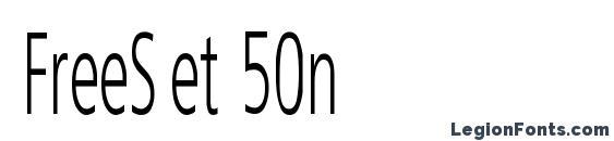 FreeSet 50n Font