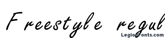 Freestyle regular Font, Tattoo Fonts