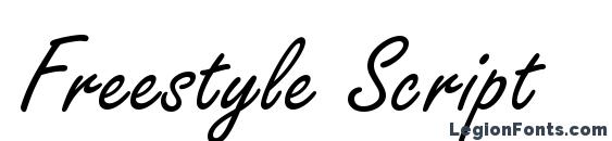шрифт Freestyle Script, бесплатный шрифт Freestyle Script, предварительный просмотр шрифта Freestyle Script