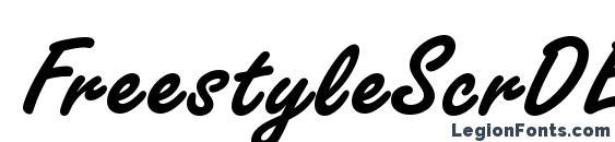 FreestyleScrDEE Bold Font