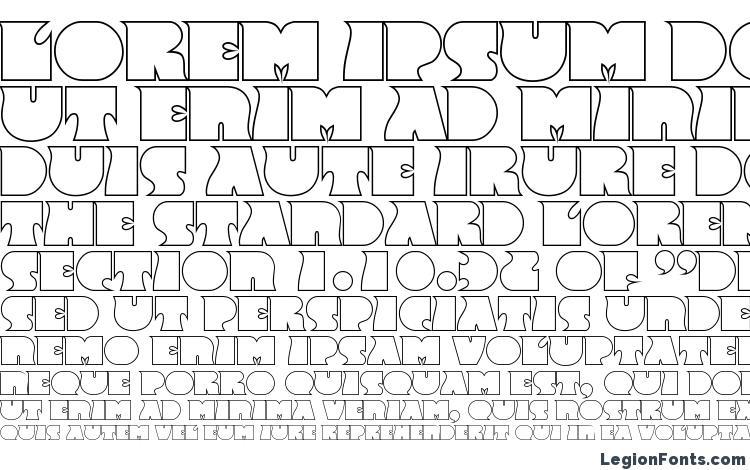 specimens FrenzyOutline Regular font, sample FrenzyOutline Regular font, an example of writing FrenzyOutline Regular font, review FrenzyOutline Regular font, preview FrenzyOutline Regular font, FrenzyOutline Regular font